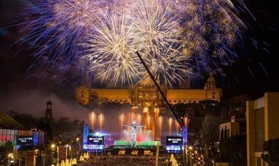 Барселона встретила Новый 2014 год с размахом