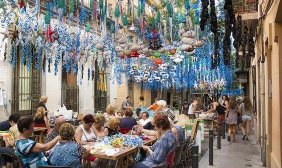 Праздник района Грасия в Барселоне