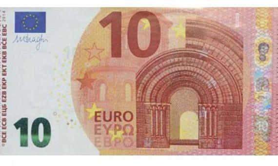 Новая купюра 10 евро