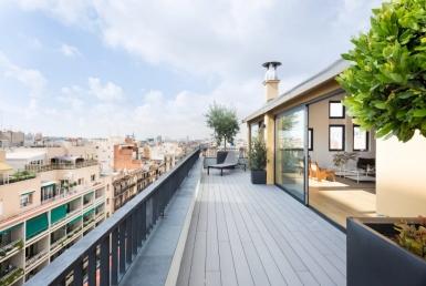 Отреставрированная квартира-пентхаус 221 м2 с террасой в Эшампле - 22